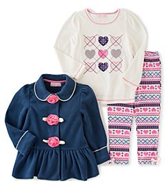 Kids Headquarters® Girls' 2T-6X Argyle Heart Jacket Set