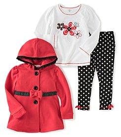 Kids Headquarters® Girls' 2T-6X Floral Polka Dot Jacket Set