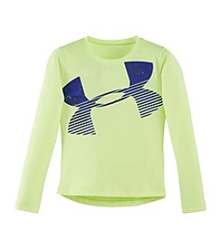 Under Armour® Girls' 2T-6 Long Sleeve Big Logo Tee