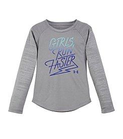 Under Armour® Girls' 2T-6X Girls Run Faster Long Sleeve Tee