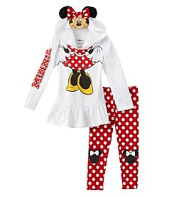 Disney® Girls' 2T-6X Minnie Mouse® Just Like Her Hoodie Set