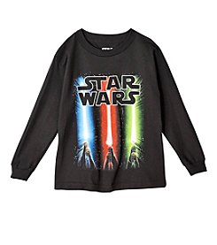 Star Wars® Boys' 4-7 Star Wars Sabers Rise Glow In The Dark Tee