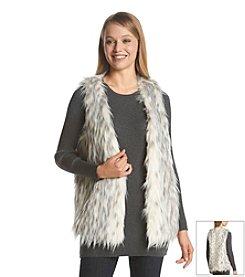Kensie® Spotted Faux Fur Vest