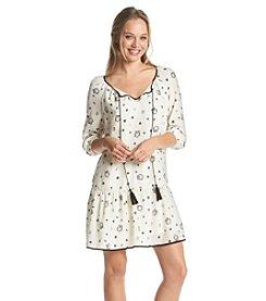 Kensie® Owl & Dots Dress