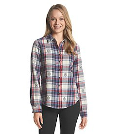 Hippie Laundry Plaid Geo Print Shirt