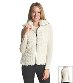 Sequin Hearts® Sherpa Zip Vest