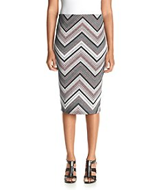 Sequin Hearts® Chevron Midi Scuba Skirt