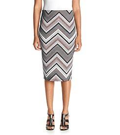 Sequin Hearts® Chevron Scuba Skirt