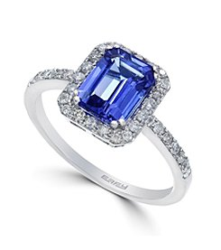 Effy® Tanzanite Royale Collection Tanzanite And .27 ct. Diamond Ring In 14K White Gold
