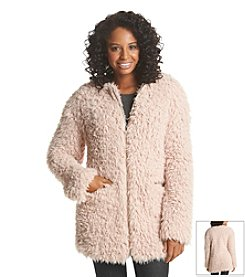 A. Byer Shaggy Faux Fur Coat