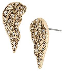Betsey Johnson® Goldtone Crystal Wing Stud Earrings