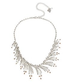 Betsey Johnson® Silvertone Crystal Spray Frontal Necklace