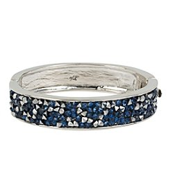 Kenneth Cole® Mixed Sprinkled Stone Silvertone Hinged Bangle Bracelet