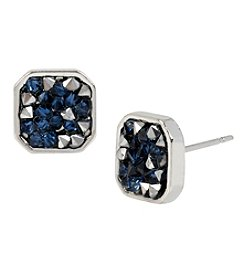 Kenneth Cole® Mixed Sprinkled Stone Silvertone Stud Earrings