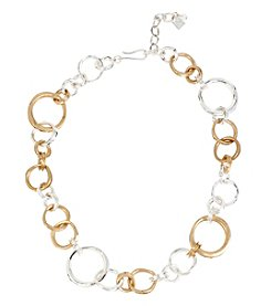 Robert Lee Morris Soho™ Two-Tone Ring Link Necklace