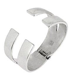 Robert Lee Morris Soho™ Silvertone Hinged Bangle Bracelet