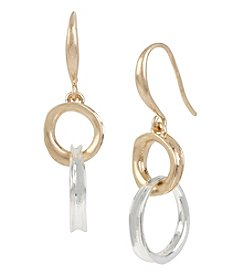 Robert Lee Morris Soho™ Two-Tone Link Double Drop Earrings