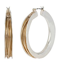 Robert Lee Morris Soho™ Two-Tone Wire Wrapped Large Hoop Earrings