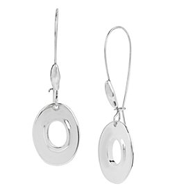 Robert Lee Morris Soho™ Silvertone Oval Long Drop Earrings