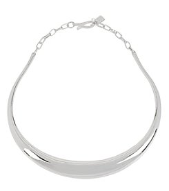 Robert Lee Morris Soho™ Silvertone Sculptural Collar Necklace