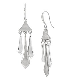 Robert Lee Morris Soho™ Silvertone Sculptural Stick Chandelier Earrings