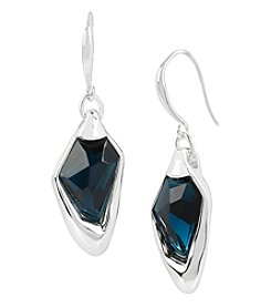 Robert Lee Morris Soho™ Silvertone Blue Faceted Stone Drop Earrings