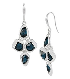 Robert Lee Morris Soho™ Silvertone Faceted Stone Chandelier Earrings