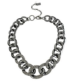 Kenneth Cole® Hematite Tone Pave Link Necklace