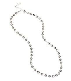 Kenneth Cole® Silvertone Grey Glass Pearl Long Strand Necklace
