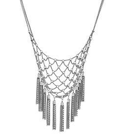 BCBGeneration™ Silvertone Tassel Drama Necklace