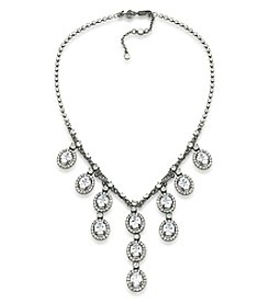 Carolee® Hematite-Tone Phantom Frontal Drop Necklace