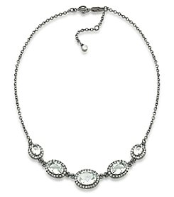 Carolee® Hematite Tone Phantom Frontal Necklace