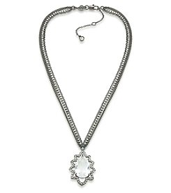 Carolee® Hematite Tone Phantom Pendant Necklace