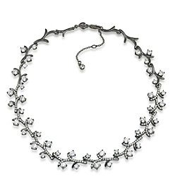 Carolee® Hematite Tone Phantom Vine Collar Necklace