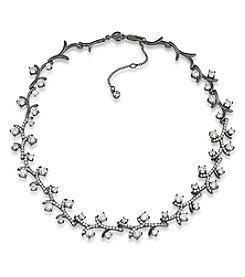 Carolee® Hematite Tone Phantom Vine Collar Necklace