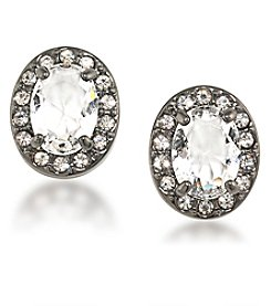 Carolee® Hematite Tone Phantom Stud Pierced Earrings