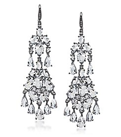 Carolee® Hematite-Tone Phantom Chandelier Pierced Earrings
