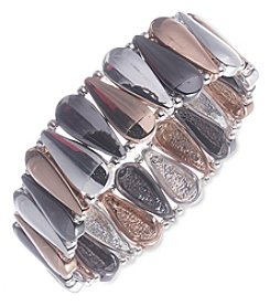 Nine West® Tri Tone Medium Stretch Bracelet