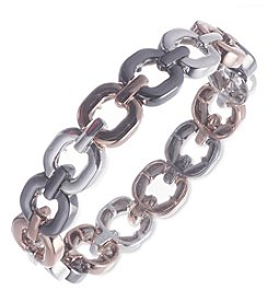 Nine West® Tri Tone Linked Stretch Bracelet