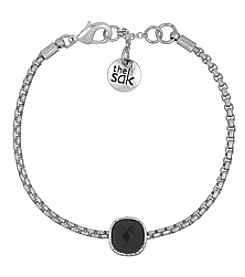 The Sak® Silvertone Cushion Batik Bracelet