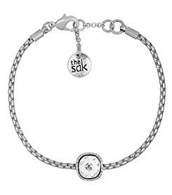 The Sak® Silvertone Cushion Batik Bracelet