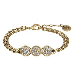 The Sak® Goldtone Pave Circle Line Bracelet
