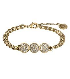 The Sak® Goldtone Pave Circle Line Bracelet