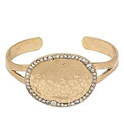 The Sak® Goldtone Pave Disc Cuff Bracelet