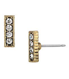 The Sak® Goldtone Pave Bar Stud Earrings