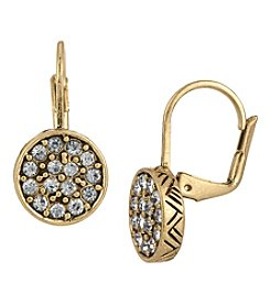 The Sak® Goldtone Pave Circle Drop Earrings