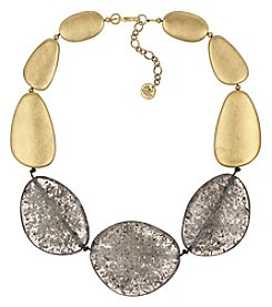 The Sak® Goldtone Large Stone Collar Necklace