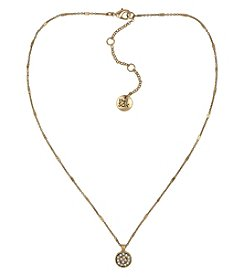 The Sak® Goldtone Pave Circle Pendant Necklace