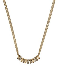 The Sak® Goldtone Multi Pave Ring Necklace