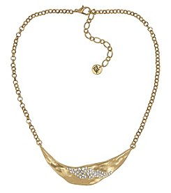 The Sak® Goldtone Metal Pave Bib Necklace